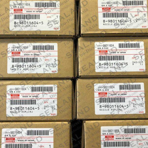 8 98011604 5 ISUZU COMMON RAIL INJECTORS for sale